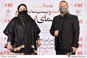 محمدحسین قاسمی و نرگس آبیار در مراسم تجلیل از افتخارآفرینان سینمای ایران در عرصه بینالملل