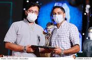 مهران علوی و مهاجر توحیدپرست در مراسم اختتامیه شانزدهمین جشنواره بینالمللی فیلم «مقاومت»