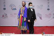 ابوالفضل و شمیلا شیرزاد در حاشیه آخرین روز سیودومین جشنواره بینالمللی فیلمهای کودکان و نوجوانان