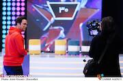 حامد آهنگی در پشت صحنه مسابقه تلویزیونی«شوتبال»
