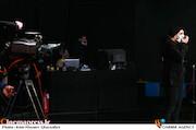 محمد پیوندی در پشت صحنه مسابقه تلویزیونی«شوتبال»