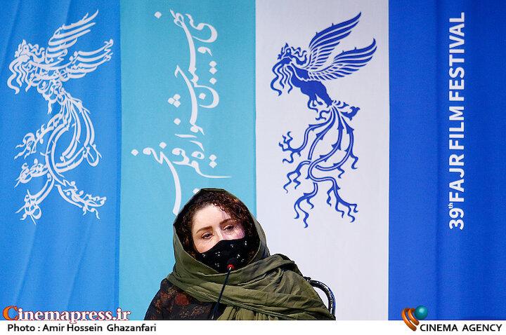 ژاله صامتی در نشست خبری فیلم سینمایی «شیشلیک»