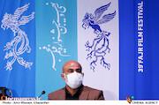 عبدالرضا نصاری در نشست خبری فیلم سینمایی«تک تیرانداز»