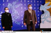 محمدمهدی طباطبایی نژاد و حسین انتظامی در سی و نهمین جشنواره فیلم فجر