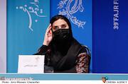 سحر دولتشاهی در نشست خبری فیلم سینمایی«خط فرضی»