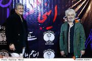 اکبر اصفهانی و نادر طریقت در اکران خصوصی فیلم سینمایی«اینجا هم باران میبارد»