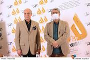 محمد حمیدی مقدم و اسدالله نیک نژاد در مراسم اکران خصوصی فیلم سینمایی «لاله»