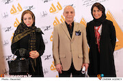 سارا امیری و اسدالله نیک نژاد در مراسم اکران خصوصی فیلم سینمایی «لاله»