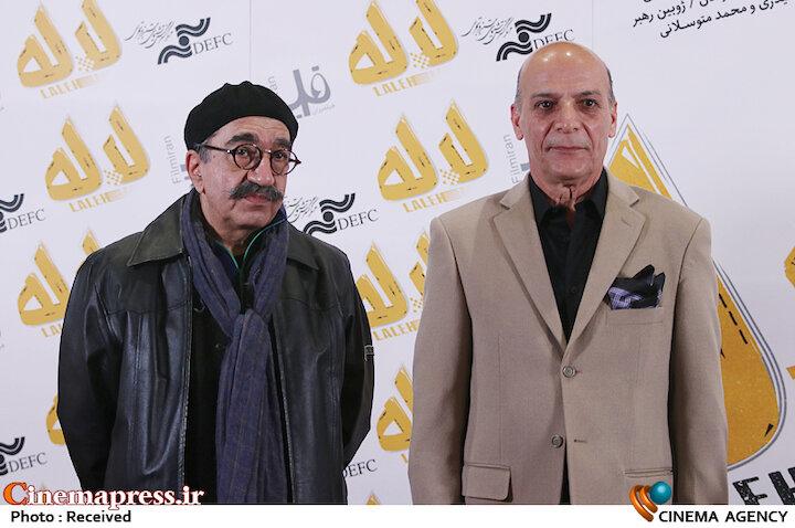 اسدالله نیک نژاد و تورج منصوری در مراسم اکران خصوصی فیلم سینمایی «لاله»