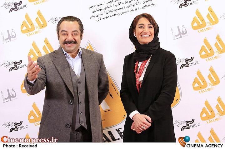 سارا امیری و سام قریبیان در مراسم اکران خصوصی فیلم سینمایی «لاله»
