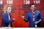 کوروش سلیمانی و همایون ارشادی در سومین روز سی و هشتمین جشنواره جهانی فیلم فجر
