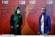 همایون ارشادی و میترا حجار در سومین روز سی و هشتمین جشنواره جهانی فیلم فجر