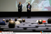 امیر اسفندیاری و مجید مجیدی در پنجمین روز سی و هشتمین جشنواره جهانی فیلم فجر