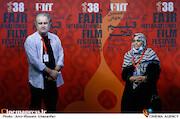 پروانه مرزبان و صادق صادق دقیقی در پنجمین روز سی و هشتمین جشنواره جهانی فیلم فجر