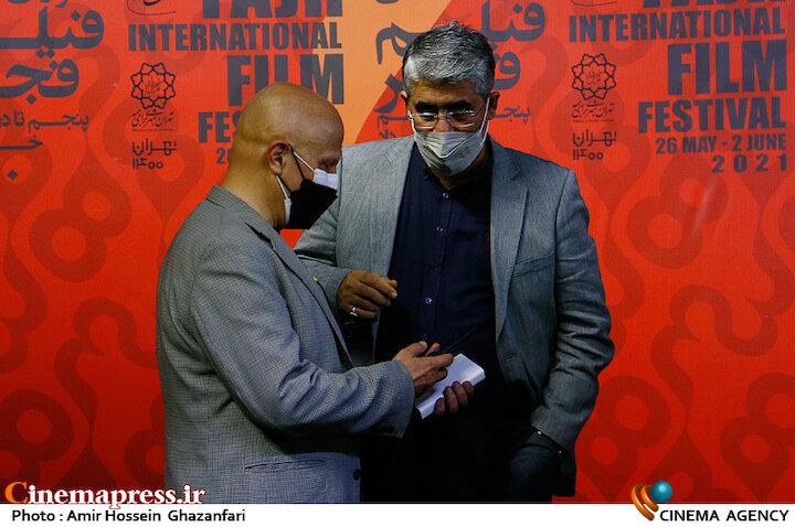 محمد حمیدیمقدم و مرتضی رزاق کریمی در هفتمین روز سی و هشتمین جشنواره جهانی فیلم فجر