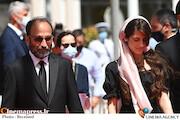 سارینا و اصغر فرهادی در جشنواره فیلم کن ۲۰۲۱