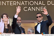 امیر جدیدی و اصغر فرهادی و سارینا فرهادی در جشنواره فیلم کن ۲۰۲۱