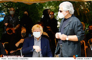 منوچهر شاهسواری و محمد بهشتی در مراسم تشییع پیکر زندهیاد «فرشته طائرپور»