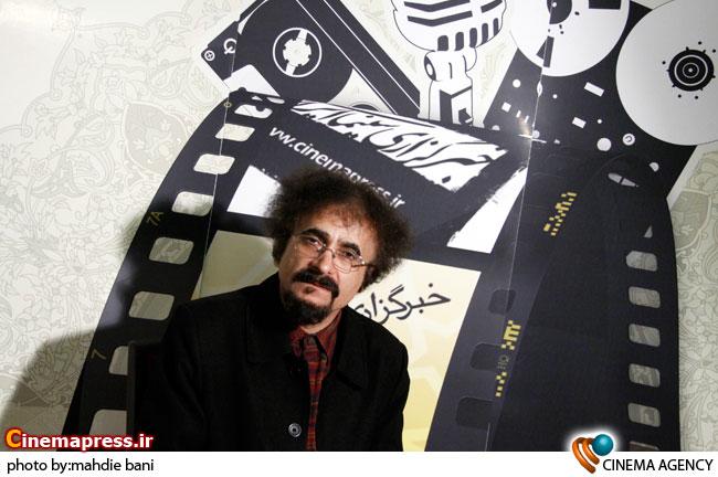 حسین لیالستانی در غرفه خبرگزاری سینمای ایران در جشنواره فجر