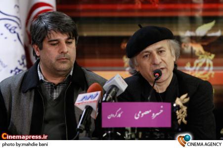 خسرو معصومی و نوروز بیگی در نشست فیلم خرس در سی امین جشنواره فیلم فجر