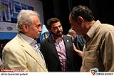 احمد مسجد جامعی و اتابک نادری و ایرج راد در جشن چهل و پنجمین سالگرد تأسیس تماشاخانه سنگلج