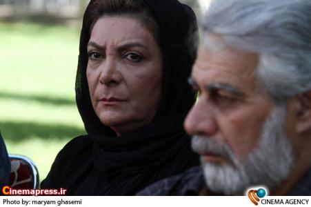 مهوش وقاری در مراسم تشییع «نادیا دلدار گلچین » بازیگر سینما و تلویزیون