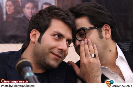 فرزاد حسنی و مجید واشقانی در  نشست سریال مسیر انحرافی در فرهنگسرای رسانه